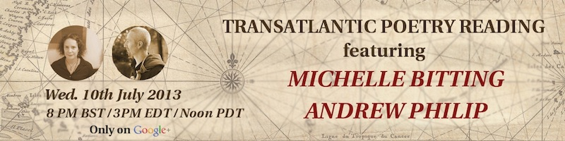 Michelle Bitting and Andrew Philip // Transatlantic Poetry on Air