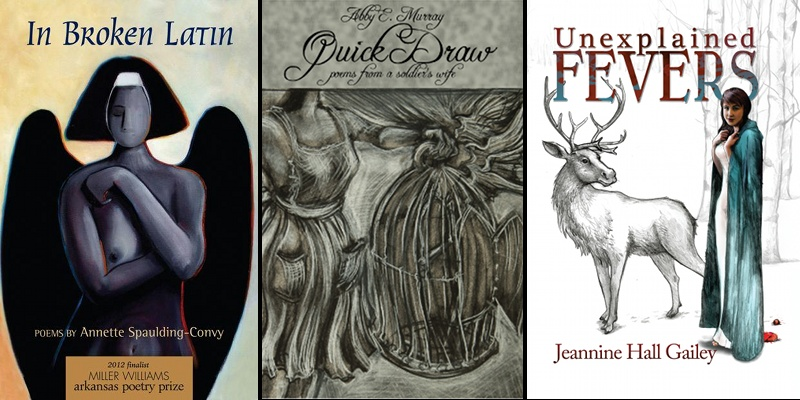 Three Poetry Book Covers