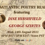 Hanging Out with Jane Hirshfield and George Szirtes on Air