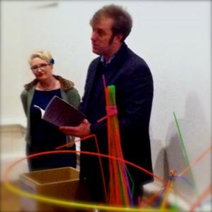 Robert Peake reads at the Royal Academy