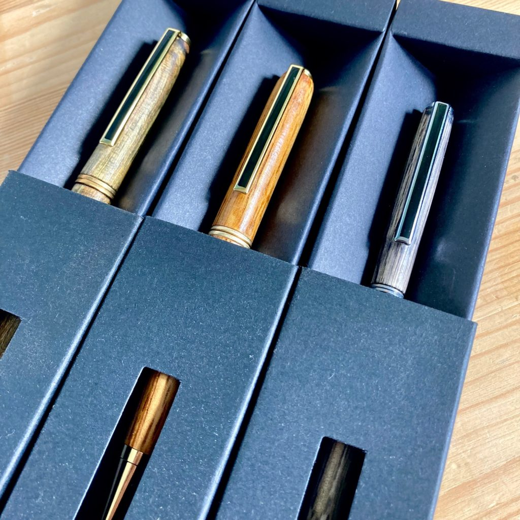 Image of wooden pens