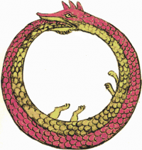An ouroboros, symbol of cyclical processes